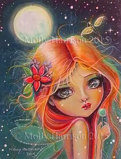 Art: moonlightshimmercloseup by Artist Molly Harrison