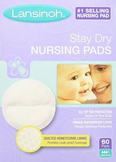 Lansinoh Stay Dry Disposable Nursing Pads, 60 Count Boxes (Pack of 4) * Visit the image link more details.