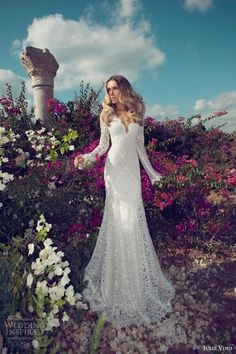Beautiful long sleeve #bohemianwedding dress