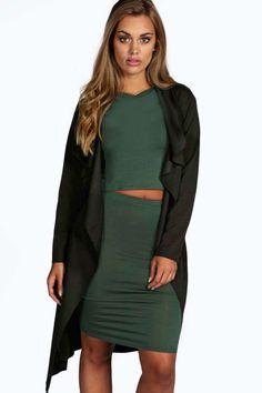 04172ad0126d3 Plus Debbie Wrap Front Trench Coat alternative image Black Raincoat