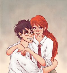 Harry And Ginny by cinnamonskittles on deviantART Harry Potter Ginny Weasley, Harry And Ginny, Harry Potter Ships, Harry Potter Jokes, Harry Potter Fan Art, Harry Potter Universal, Harry Potter World, Magnus Chase, Percy Jackson