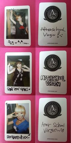 ORANGE CARAMEL 3 pcs  LIZZY RAINA NANA VIRGIN Official Photo Card AFTER SCHOOL