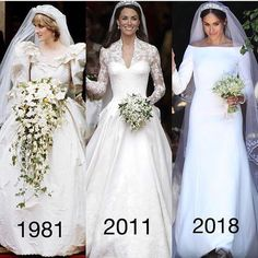 HrH Princess Diana of born Son of Diana, William married HrH Catherine the Duchess of Cambridge, born Henry(Harry) married Hrh the Duchess of Sussex. A beautiful collage. I think Diana would be so happy with her Sons Choices . Royal Brides, Royal Weddings, Lady Diana, Wedding Bells, Wedding Gowns, Wedding Bride, Wedding Lingerie, Bouquet Wedding, Wedding Reception