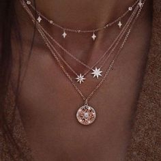 Miss JQ Moon Star Pendant Necklace for Women Multilayer Statement Necklace Charm Chain Necklace Collier bijoux Party Jewelry Necklace Cute Jewelry, Jewelry Accessories, Women Jewelry, Jewelry Design, Jewelry Gifts, Cheap Jewelry, Necklaces For Women, Jewelry Box, Jewelry Clasps