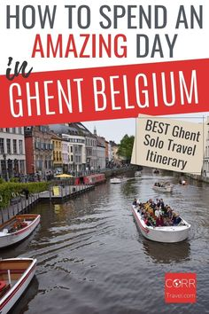 One day in #Ghent is enough to see the top sights using my Ghent 1 day itinerary. Top solo travel itinerary and tips ideal for your over 40 travel and solo travel Ghent day trip from #Brussels #Belgium. By @CORRTravel #CORRTravel Solo Travel Itinerary | Travel Itinerary | Solo Travel Tips | Solo Travel Destinations | Solo Travel Safety | Belgium Travel Guide | Travel Planning | Travel Tips and Tricks | Over 40 Travel Solo Travel Tips, Europe Travel Guide, Budget Travel, Travel Destinations, Planning Budget, Trip Planning, International Travel Tips, Belize Travel, Travel Around The World