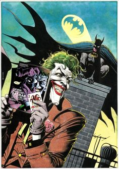 brianmichaelbendis: Joker Batman painting by Brian Bolland
