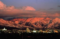 Salt Lake City, Utah. Looks much prettier than I imagined!