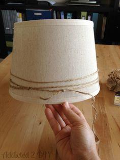 Simple Lamp Makeover - Ikea Hack - Addicted 2 DIY Decorate Lampshade, Paper Lampshade, Lampshades, Lamp Makeover, Bedside Lamp, Ikea Hack, Hacks, Simple, Eat Sleep
