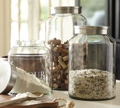 Antique-Silver Glass Canisters | Pottery Barn