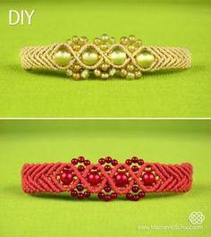 Wavy Chevron Bracelet with Beads - Tutorial by Jersica