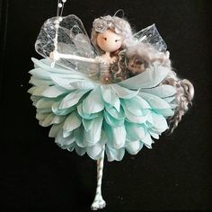 A handcrafted fairy doll made by The Fairy Trail Hello, my name is Helen and welcome to 'The Fairy Trail'. Since I was a child I have had a love of all things magical and fantasy and in 2017 I began to create a magical world of my own. Fairy Crafts, Doll Crafts, Felt Fairy, Christmas Crafts, Christmas Ornaments, Clothespin Dolls, Mermaid Dolls, Tiny Dolls, Flower Fairies
