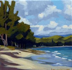 At Kailua Bay by Brenda Cablayan for Matchbox Plus XII #Acrylic #BrendaCablayan #cedarstreetgalleries