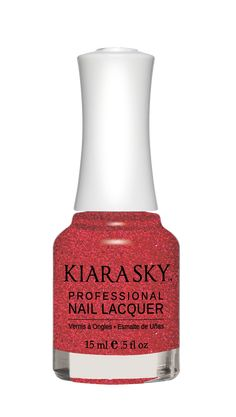 Kiara Sky Nail Polish Passion Potion N551. Kiara Sky® Professional Nail Lacquer is an advanced formula free of Formaldehyde, Toluene, and DBP. Our highly pigmented, high-fashion nail lacquer provides glassy, full coverage, long-wearing shine for natural nails. Kiara Sky patent-pending bottle design is paired with Precision Brush® technology engineered to complement our highly pigmented formula, giving you the most even and precise lacquer application.