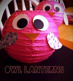 CupcakesandHomeschool: Owl Lanterns