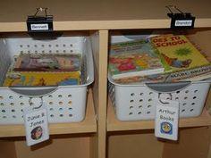 use binder clips to label shelves