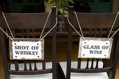 Mr and Mrs Wedding Chair Signs for Country by BordenSpecifics