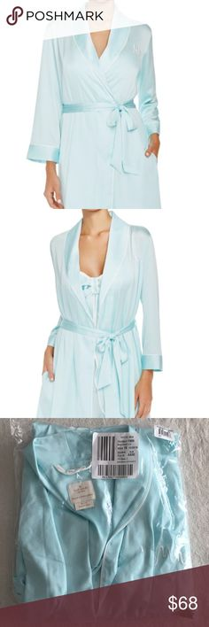 Kate Spade MRS bride bridal wedding silk Robe wrap Brand new unopened in package.  Kate spade silk robe featuring 'mrs' embroidered on front.  Part of ever after bridal collection from Bloomingdales.  Matching chemise posted separately.  Pet free smoke free posher. kate spade Intimates & Sleepwear Robes
