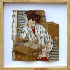 Françoise Amadieu expose ses tableaux à la galerie l'Avant-Port. Ses oeuvres surprenantes sont à la fois gravure, peinture, sculpture