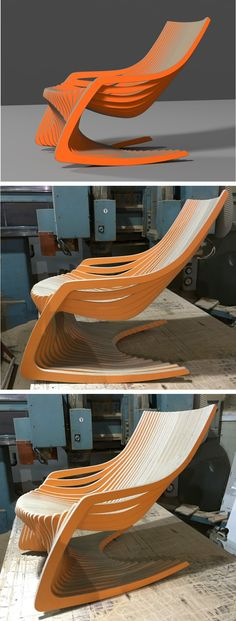 ROCKING CHAIR  / CNC ROUTER  / 3D DESIGN / PLYWOOD FURNITURE / www.joinxstudio.com