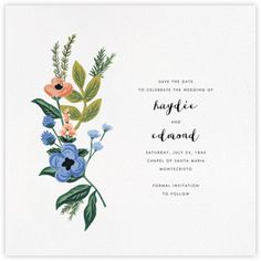 Rifle Paper Co. wedding - online at Paperless Post
