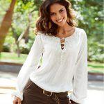 Blusas blancas de verano manga larga 4
