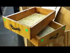Two drawers are upcycled to become smartest storage we've ever seen ( + 9 projects) - DIY Everywhere Cool Ideas, Unique Bedside Tables, Kitchen Island Furniture, Craft Paint Storage, How To Become Smarter, Kitchen Cabinet Drawers, Old Drawers, Smart Storage, Old Kitchen