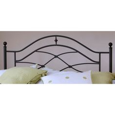 Enhance your bed with this Cole headboard that features stylish scrollwork and classic ball finials. The open design of this black headboard gives your bedroom a classic look, and the sturdy metal con