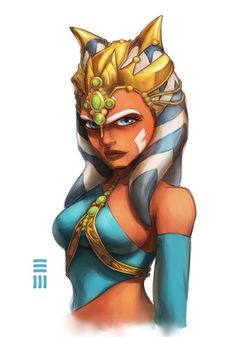 Ahsoka Tano in the servant's outfit. (From Star Wars) :)