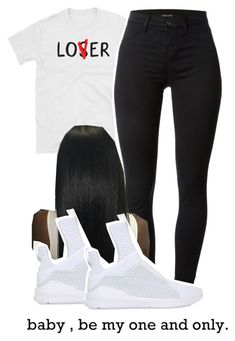 """""""Untitled #53"""" by nya-back ❤ liked on Polyvore featuring J Brand and Puma"""