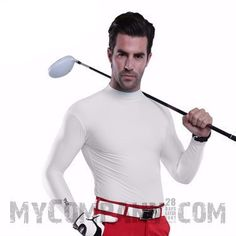 Men's Golf Pro Long Sleeve Base Layer Dri-Fit Shirt  #jogger #compression #excersice #tights #5percentoff #pants #sexy #womens #mens #fashion
