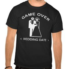 Game Over (Wedding Date) T-Shirt T-shirt