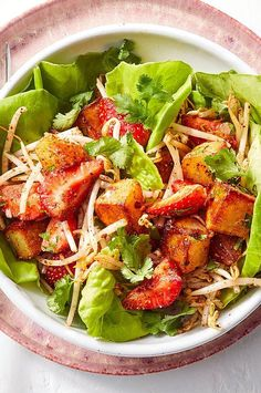 This combo may seem wild, but trust us--it works. Indian-American chef and cookbook author Raghavan Iyer developed it to have everything he thinks a perfect recipe should: a balance of heat, sweetness, a little pucker and a hit of salt combined with a tango of textures. #salads #saladrecipes #healthysalads #saladideas #healthyrecipes Bean Sprout Salad, Sprouts Salad, Bean Sprouts, Bean Salad, Healthy Salads, Salad Recipes, Lunches And Dinners, Potatoes, Tango