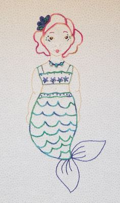 Mermaid Mermay - stitching mermaids in May!