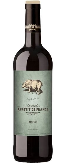 Appétit de France Merlot - Gorgeous aromas - Morello cherries, milk chocolate - leap from the glass, while in the mouth the wine is fleshy, with sweet tannins and rich notes of fruitcake and plum jam. Plum Jam, Cherries, Milk, Notes, France, Chocolate, Bottle, Glass, Sweet