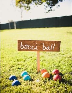 bocci ball - I won the family tournament last year!