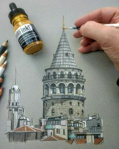 ================================== Buy Art now Free Sh… Name the building By ? ================================== Buy Art now Ancient Architecture, Architecture Art, Japanese Architecture, Istanbul, Architecture Drawing Sketchbooks, Building Drawing, Building Sketch, Beautiful Sketches, Turkish Art