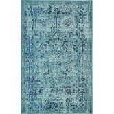 Found it at Wayfair - Barcelona Light Blue Area Rug 7 x 10 $275 sold out until 8/21