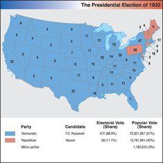 1932 Presidential Election: Hoover v. FDR | 1929 - 1933 - Herbert ...