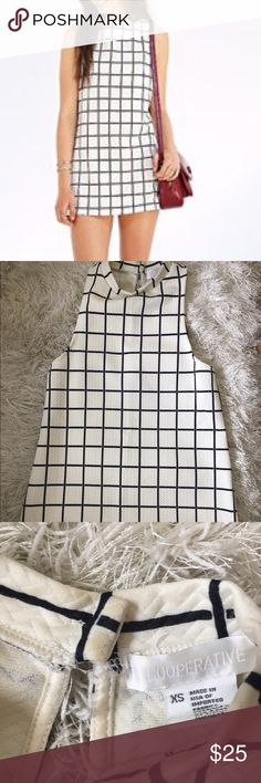 Urban Outfitters Grid dress. Perfect condition. UO grid high neck dress could also be a tunic. Size XS Urban Outfitters Dresses