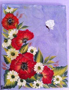 one stroke poppies - Google Search