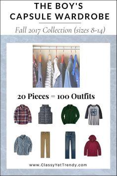 The Boy's Capsule Wardrobe: Fall 2017 Collection - Classy Yet Trendy Capsule Wardrobe Mom, Fall Wardrobe, Kids Wardrobe, Teen Boy Fashion, Toddler Fashion, Teenager Fashion, Teenager Girl, Fall Outfits, Kids Outfits