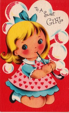 Vintage 1950s For A Little Niece On Christmas Greetings Card (B4). via Etsy.