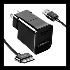 Samsung's quick charging technology allows you to use your Galaxy Tab while it is charging. The Samsung travel charger plugs into any standard wall outlet.