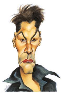 Caricaturas de famosos de hollywood keanu reeves