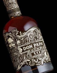 Don Papa Rum, #Design by Stranger & Stranger | 30 Beautiful & Creative Bottle Designs | #Packaging