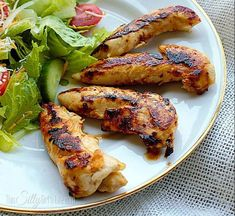 This super easy copycat recipe tastes just like Cracker Barrel& delicious Grilled Chicken Tenderloins. You only need four ingredients to make this simple but incredibly tasty dish. Cracker Barrel Grilled Chicken, Cracker Barrel Recipes, Baked Chicken Tenderloins, Grilled Chicken Tenders, Entree Recipes, Grilling Recipes, Savoury Dishes, Tasty Dishes, Chicken Tender Recipes