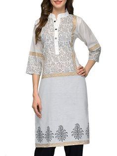 7a3360ab54 Indian Bollywood Kurta Kurti Designer Women Ethnic Dress Top - RKU 1057  #Radhas #PrintexKurta