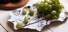 Cobalt Blue Splatter Platter