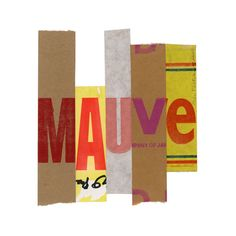 Alan Fletcher- collaged strips of type