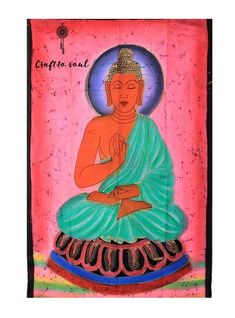 A calming statute figure of Buddha, this artwork captures the man behind the epitome of Enlightenment. A large vibrant piece that can be the centrepiece of any room, radiates positivity and peace for any soul. Online Images, Tapestry Wall Hanging, Calming, Buddha, Centerpieces, Meditation, Vibrant, Positivity, Peace